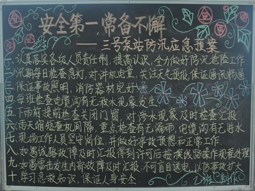 2013年安全月主题活动黑板报集锦